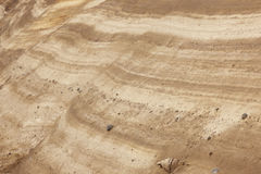 Ground layers with rocks in perspective. Warm tone Royalty Free Stock Images