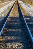 Ground Level View of Railroad Tracks in the Mountains - 2. Ground level view railroad tracks running through the mountains located in rural southwest Virginia royalty free stock image