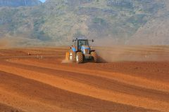 Ground Levelling royalty free stock photography