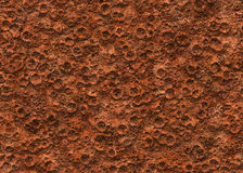 Ground of mars crater texture surface. Uneven and grained royalty free stock images