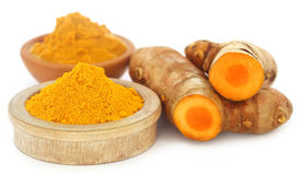 Ground and mashed turmeric Stock Photography
