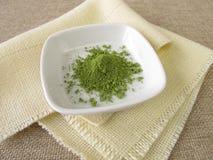 Ground matcha tea powder Stock Images