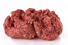 Ground meat. Beef ground meat isolated on white background Royalty Free Stock Images
