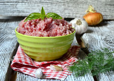Ground meat. Royalty Free Stock Images