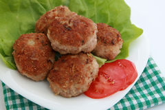 Ground meat fried in batter Royalty Free Stock Image