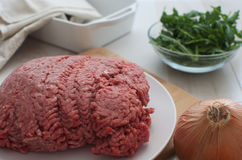 Ground meat horizontal Royalty Free Stock Images