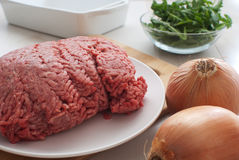 Ground meat horizontal Stock Photography