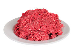 Ground meat. Isolated Stock Photography