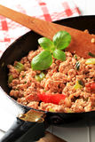 Ground meat stir fry Royalty Free Stock Photography