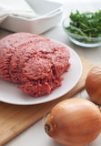Ground meat vertical Stock Photo