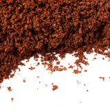 Ground milled coffee powder isolated over white background Royalty Free Stock Photography
