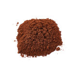 Ground milled coffee powder isolated over white background Stock Photo