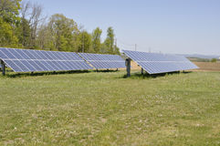 Ground mounted solar panels Stock Images