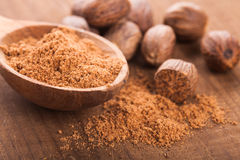 Ground nutmeg Royalty Free Stock Photo