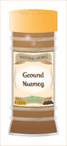Ground Nutmeg Stock Images