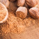 Ground nutmeg Stock Photography