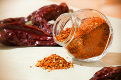 Ground pepper Stock Photo