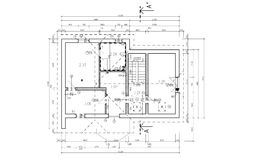 Ground plan. Fictive ground plane on white background- illustration Stock Photo