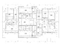 Ground plan of flat building Stock Photo