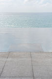 Ground pool beside the sea. Royalty Free Stock Photos