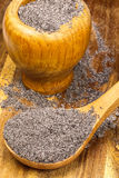 Ground poppy seed for baking Stock Image
