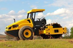 Ground Pounding Earth Flattening Construction Equipment Royalty Free Stock Photo