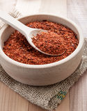 Ground red cayenne pepper Royalty Free Stock Photos