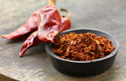 Ground red paprika (pepper) Stock Image