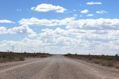 Ground road through the desert stock photography