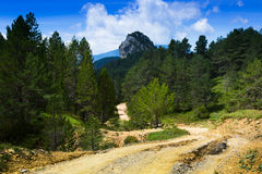 Ground road through the mountain Royalty Free Stock Photos