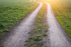 Ground road in the sunlight.  Stock Photography