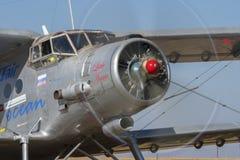 AN-2 ground run with prop blur Royalty Free Stock Photos