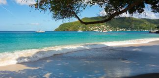 A ground sea at a pristine bay in the caribbean Royalty Free Stock Photos