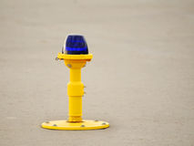 Ground side lamp taxiway Royalty Free Stock Image