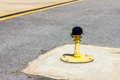 Ground side lamp taxiway Royalty Free Stock Photography