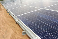 On Ground Solar PV Panels Royalty Free Stock Image