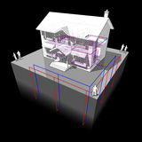 Ground source heat pump diagram Stock Images