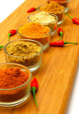 Ground  spice and red chilli Royalty Free Stock Photos