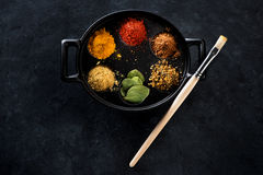 Ground Spices and Herbs Stock Photography