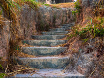 Ground stair. Ground or clay stair in the Salinopolis beach - Amazonia - Brazil Royalty Free Stock Image