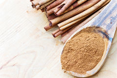 Ground and stick cinnamon Royalty Free Stock Images