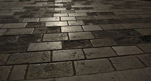 Ground stone backlighting. Stone slab ground to backlighting Stock Photo