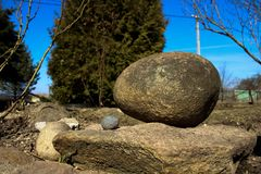 Piled stones. Big and small royalty free stock photos