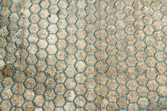 Ground for Street Road. Sidewalk, Driveway, Pavers, Pavement in Vintage Design Flooring Hexagon Pattern Texture Royalty Free Stock Photos
