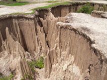 Ground subsidence Stock Photos
