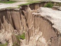 Ground subsidence Stock Photos