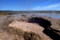 Ground surrounding a dormant Geyser in Iceland Royalty Free Stock Photography