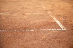 Lines on tennis court Stock Images