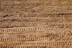 Ground texture. The ground texture with tracks stock photography