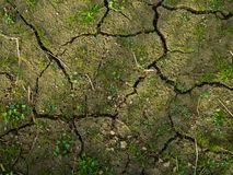 Ground texture with cracks royalty free stock photos